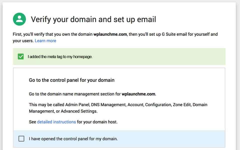 locate your domain admin panel