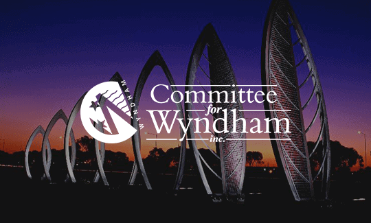 Committee for Wyndham Logo White with background