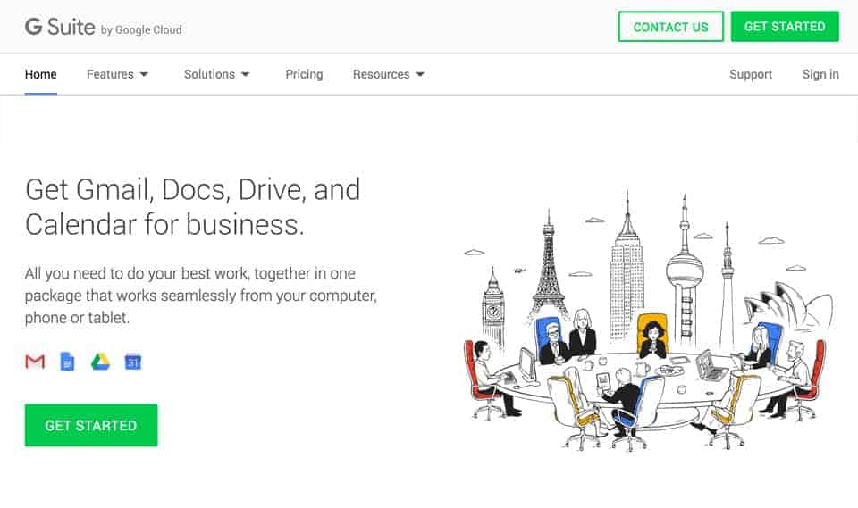 create an account with g suite